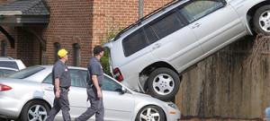 parking lot crash
