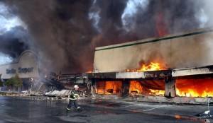 burning store