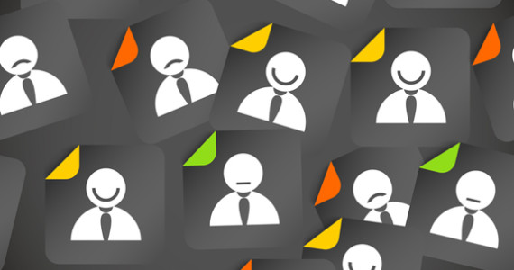 Abstract crowd of social media account avatars. Seamless background